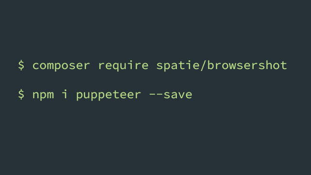 install puppeteer